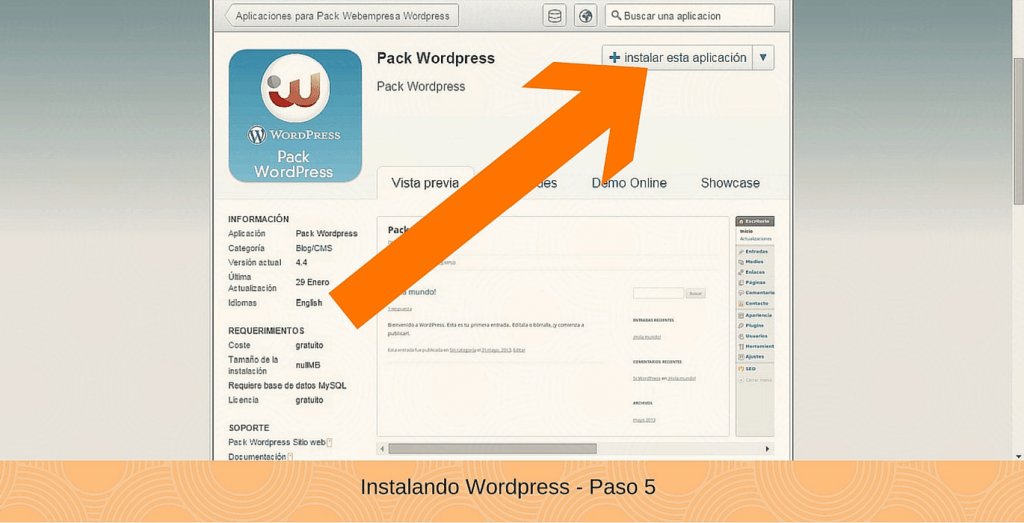 como se instala wordpress